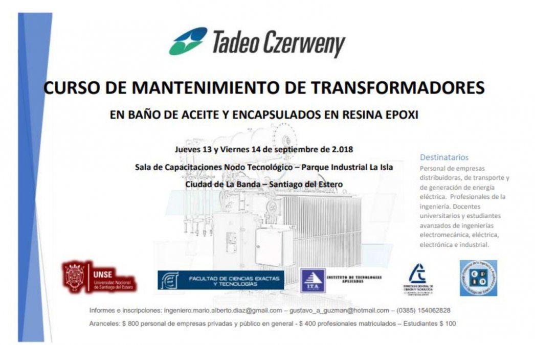 Curso de Mantenimiento de transformadores en Santiago el Estero