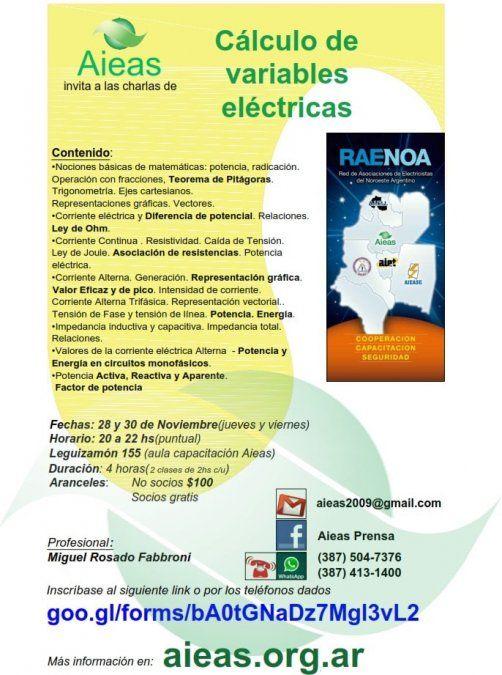 Cursos de Cálculos De Variables Eléctricas y Factor de Potencia en Salta