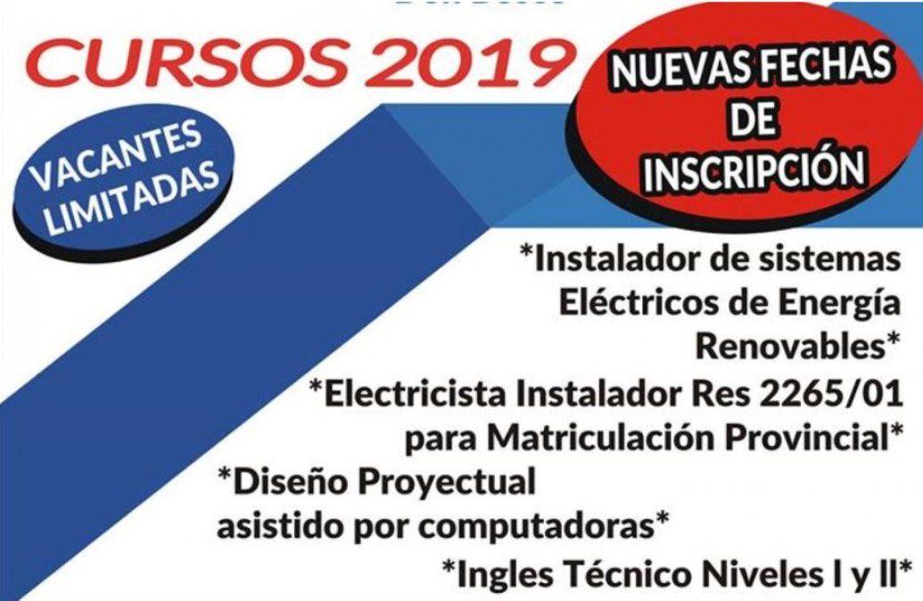 Nuevas fechas de inscripción para los Cursos 2019 en Bernal