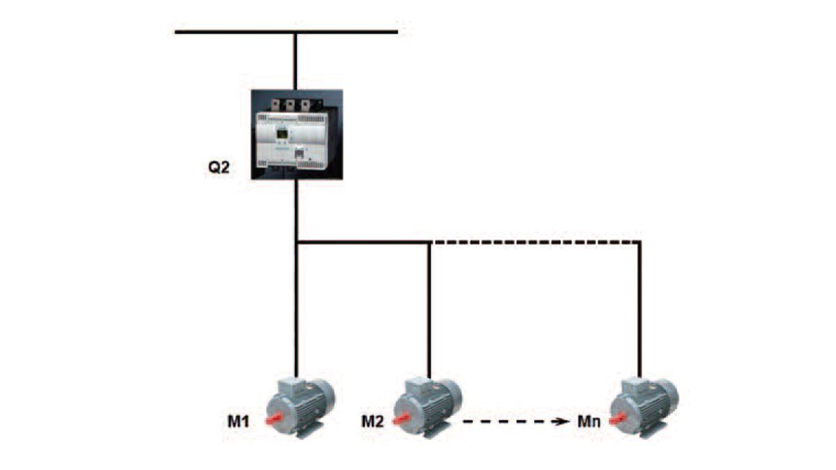 Arrancadores suaves electrónicos. Maniobra de varios motores, conexión en paralelo