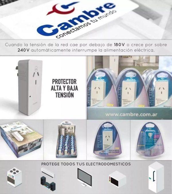 Protegé tus electrodomésticos con el protector de tensión de Cambre