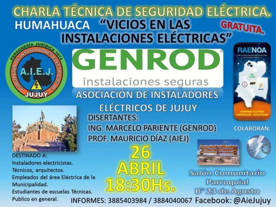 GENROD y AIEJ organizan dos charlas sobre Seguridad Eléctrica en Jujuy