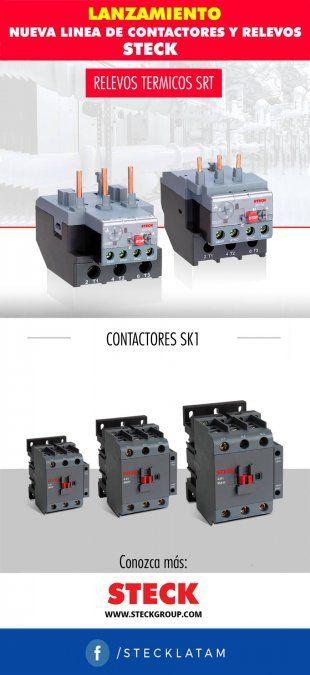 Nueva línea de contactores y relevos de Steck