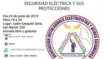 Charla sobre Seguridad Eléctrica y Protecciones en Catamarca