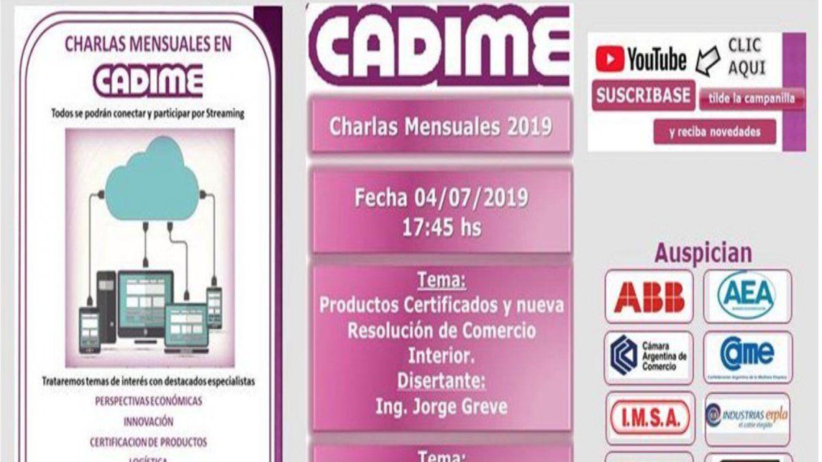 Charla sobre productos certificados y situación de los cables en el mercado eléctrico en CADIME