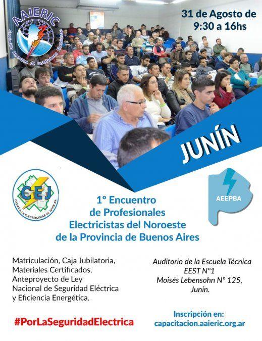Se viene el Encuentro de Profesionales Electricistas del Noroeste de la Provincia de Buenos Aires