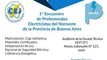 Se viene el Encuentro de Profesionales Electricistas del Noroeste de Buenos Aires