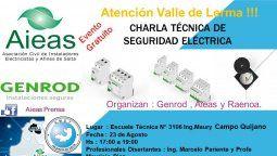 Charla técnica de Seguridad Eléctrica en Salta