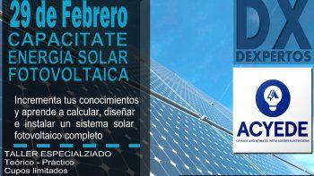 Curso intensivo de Energía Solar Fotovoltaica en ACYEDE