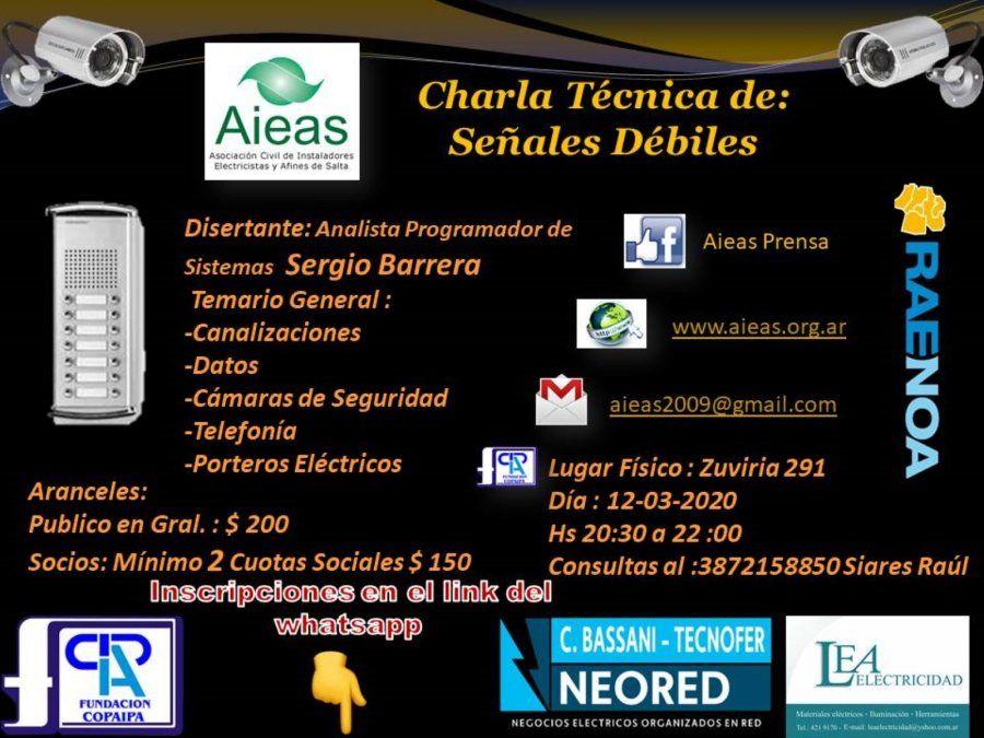 Charla técnica sobre señales débiles en Salta