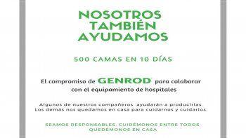 GENROD construirá 500 camas para ayudar a los hospitales