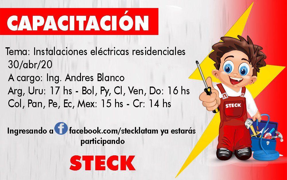 Capacitacion virtual sobre instalaciones eléctricas residenciales organizada por Steck