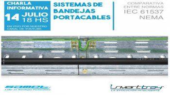 Charla técnica sobre Bandejas Portacables, de SAMET