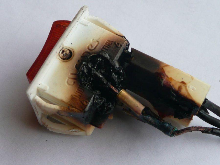 Falla grave de material eléctrico