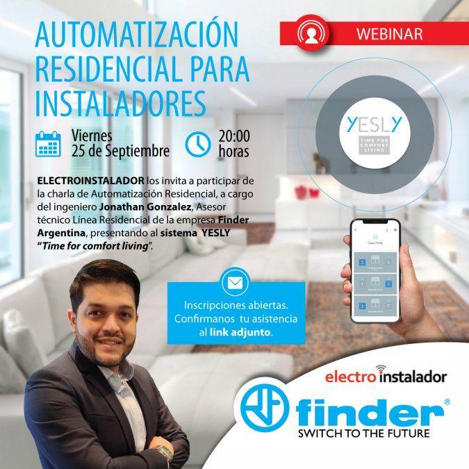 Finder te invita al webinar sobre Automatización Residencial para Instaladores