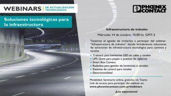 Webinar sobre infraestructura de tránsito, de Phoenix Contact