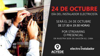 Ya podés inscribirte para celebrar el Día del Instalador Electricista con ACYEDE