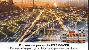 Bornes de potencia PTPower: cableado seguro y rápido para grandes secciones