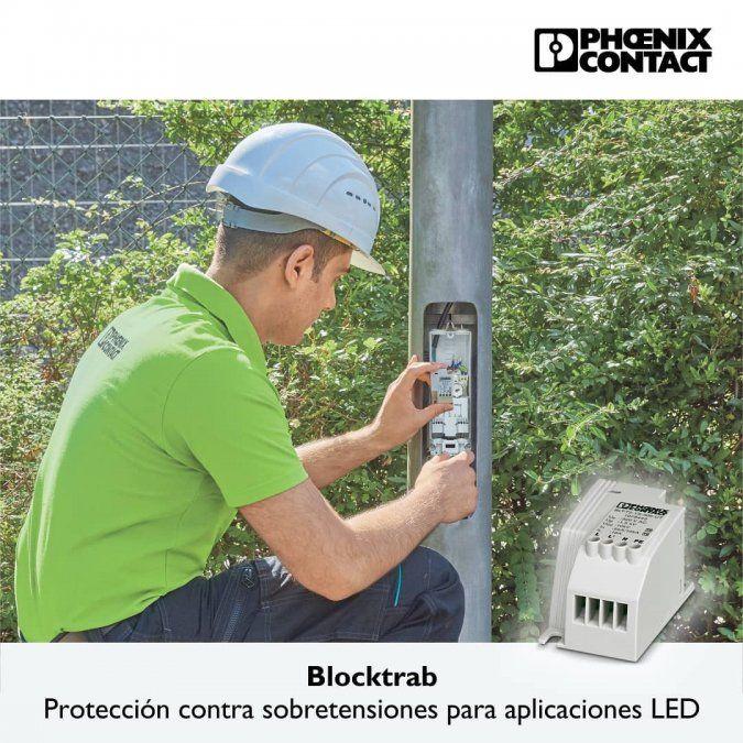 Protección contra sobretensiones con BLOCKTRAB de Phoenix Contact