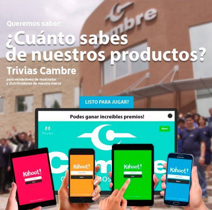 ¿Sos vendedor de productos Cambre? ¡Gana increíbles premios participando de una trivia sobre los productos Cambre!