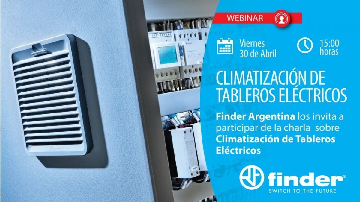 Finder Argentina organiza un webinar sobre Climatización de tableros eléctricos