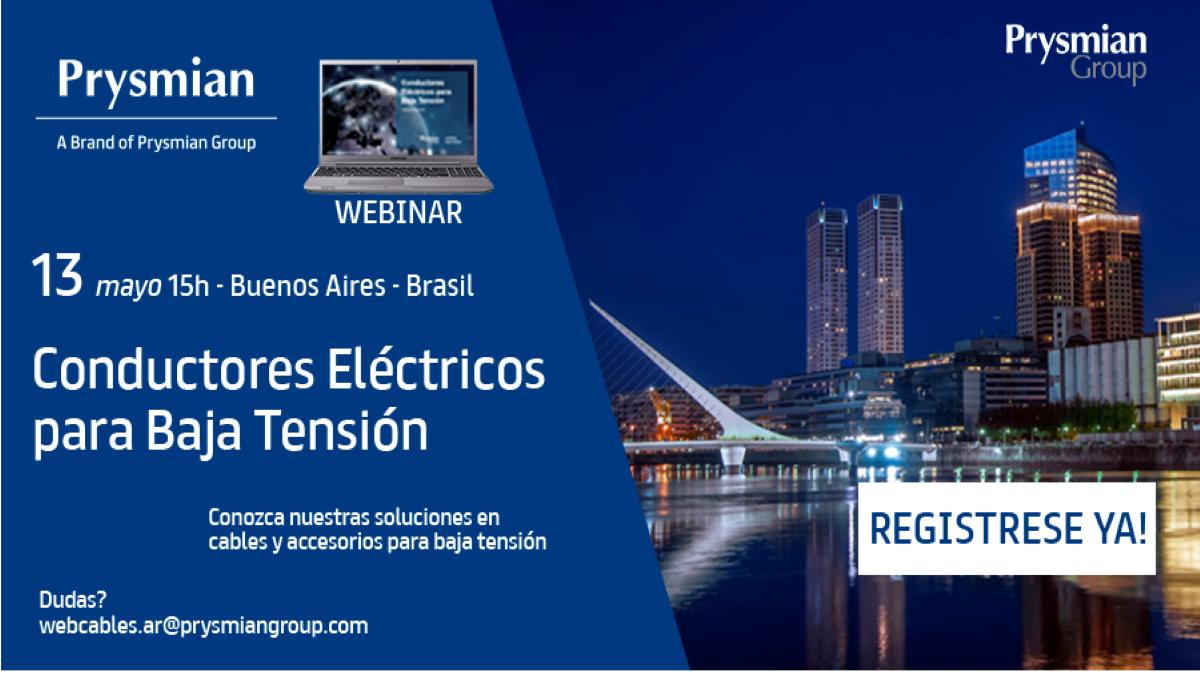 Webinar de Prysmian sobre Conductores Eléctricos para Baja Tensión y sus accesorios