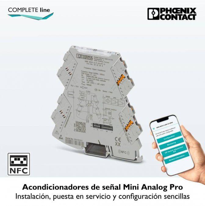 Acondicionadores de señal Mini Analog Pro, de Phoenix Contact