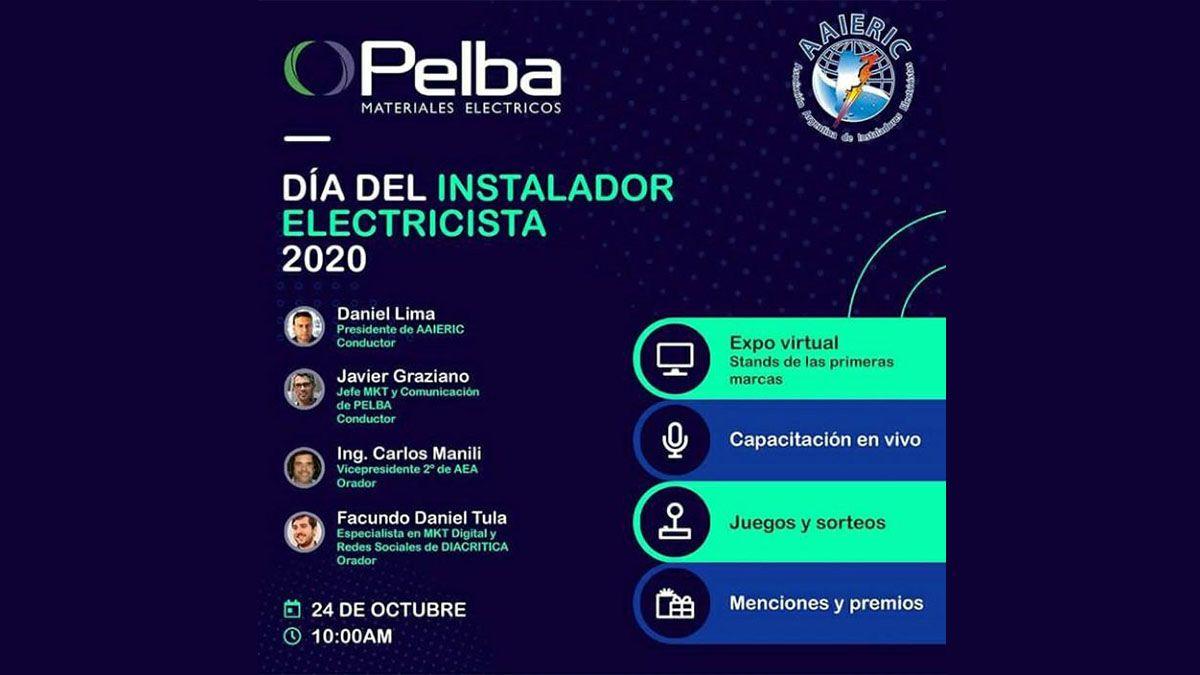 Celebrá el Día del Instalador Electricista con Pelba y AAIERIC