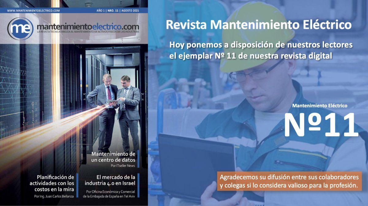 Revista Mantenimiento Eléctrico  Nº 11   Agosto 2021