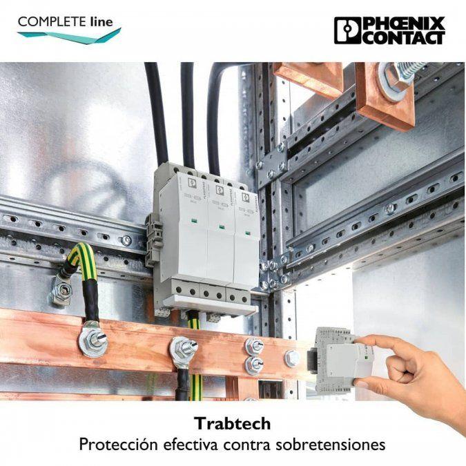 Protección efectiva contra sobretensiones con Trabtech de Phoenix Contact