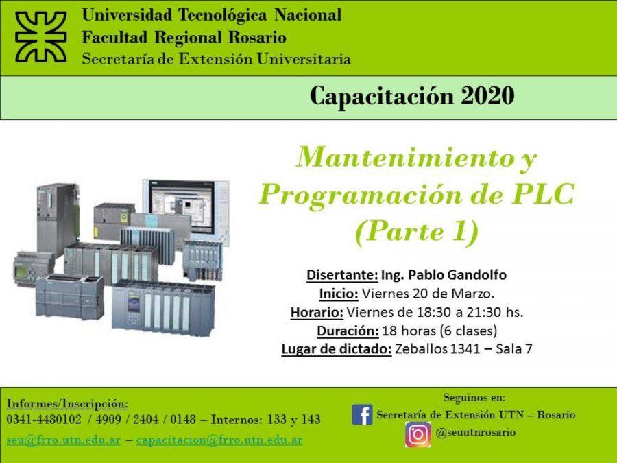 Curso de Mantenimiento y programación de PLC en la UTN Rosario