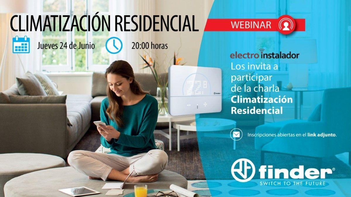 Webinar sobre Climatización Residencial, de Finder