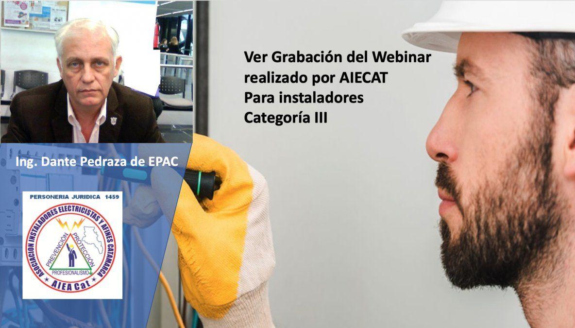 Mirá el Webinar de Introducción al Instalador Electricista Cat. III
