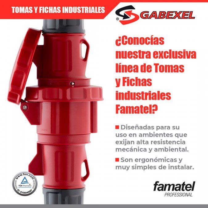¿Ya conocías la Línea de Tomas y Fichas Industriales FAMATEL?