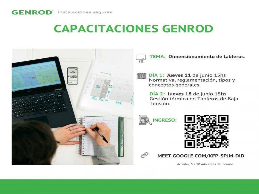 Capacitación de GENROD sobre Dimensionamiento de tableros