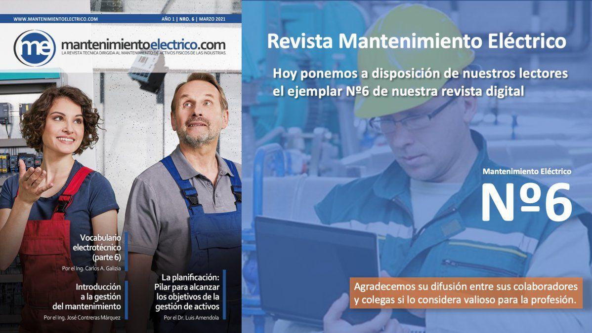 Revista Mantenimiento Eléctrico  Nº 6 | Marzo 2021