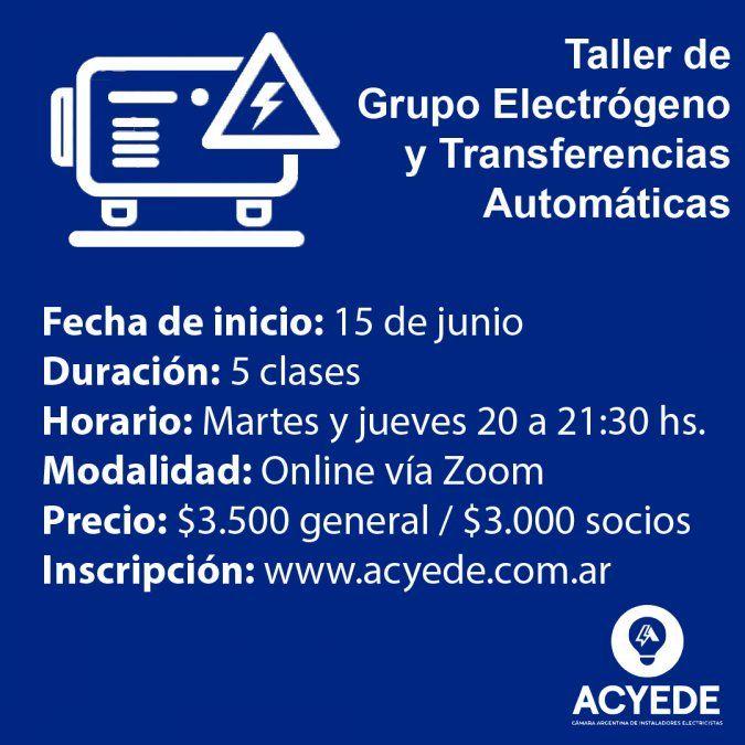 TallerGrupos Electrogenos y transferencias automaticas, de ACYEDE