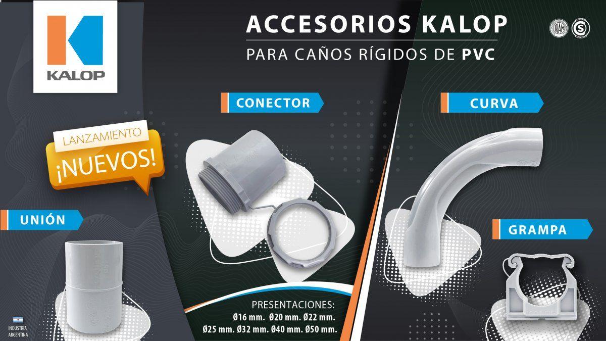 Nuevos accesorios Kalop para Caños rígidos de PVC