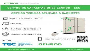 GENROD: curso de gestión térmica aplicada a gabinetes