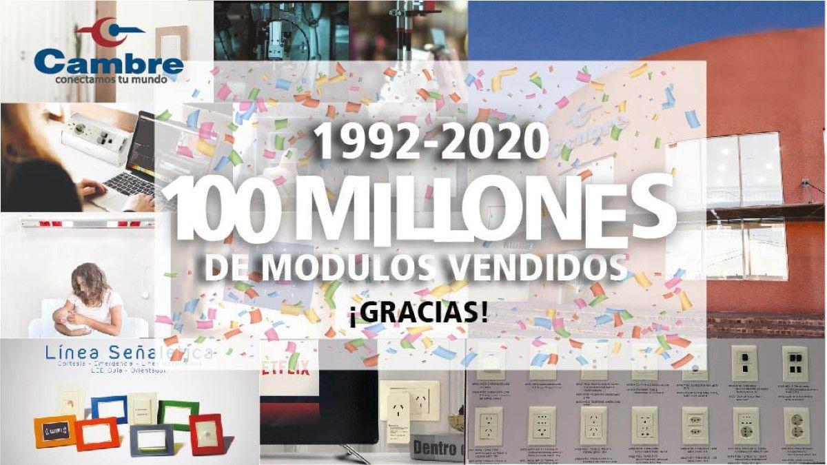 Cambre celebró los 100 millones de módulos