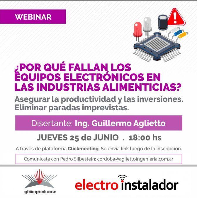Seminario: ¿Por qué fallan los equipos electrónicos en la Industria Alimenticia?
