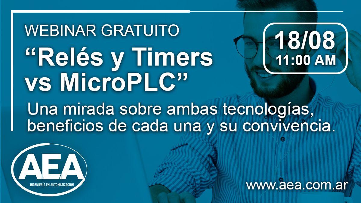 Seminario de AEA: relés y timers vs microPLC