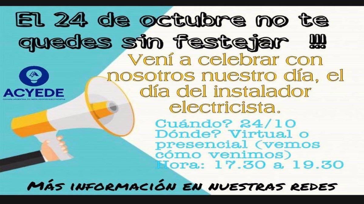 24 de octubre: muchas opciones para celebrar el Día del Instalador Electricista