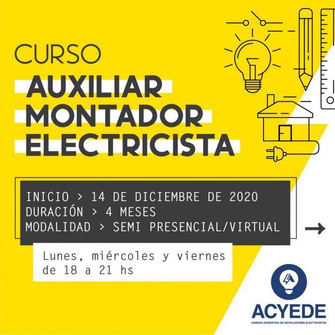 Curso de Auxiliar Montador Electricista en ACYEDE