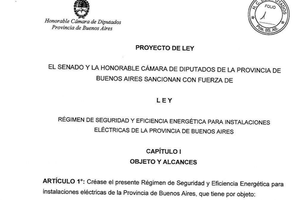 La Ley de Seguridad Eléctrica de la Provincia de Buenos Aires