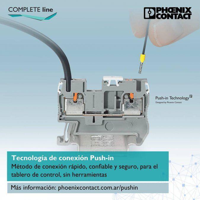 ¿Cómo funciona la tecnología Push-In de Phoenix Contact?