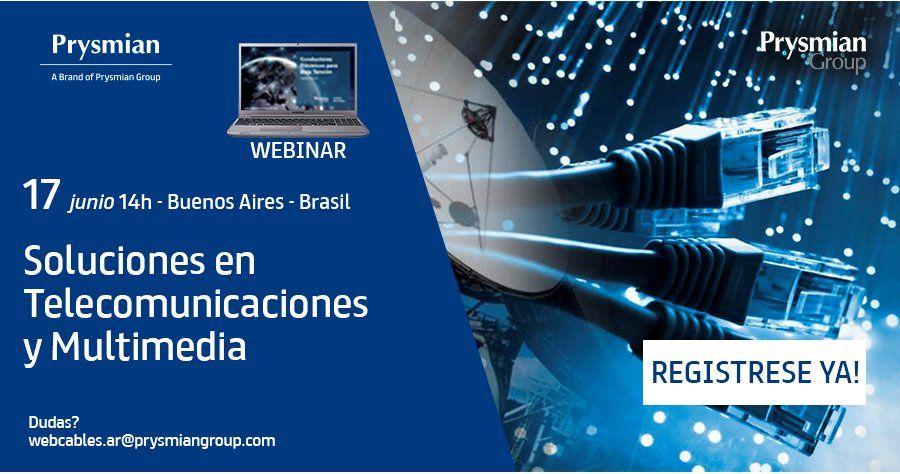 Webinar sobre Soluciones en Telecomunicaciones y Multimedia, de Prysmian