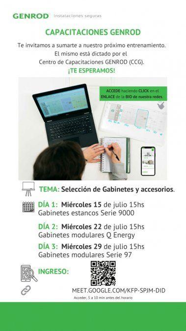 Capacitación sobre Selección de gabinetes y accesorios, de GENROD