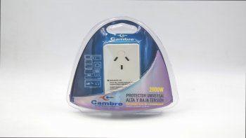 Protegé los electrodomésticos con el protector de tensión de Cambre